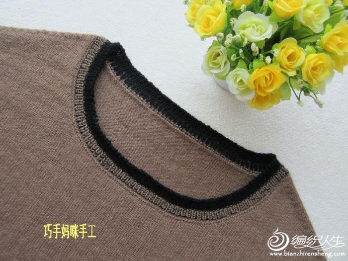 有范儿的宽松套头衣 毛线编织女生短袖毛衣款式图解教程