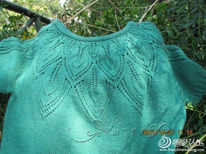 手织羊绒衫款式_毛线编织女生短袖毛衣款式春意 有图解-编织教程-编织人生