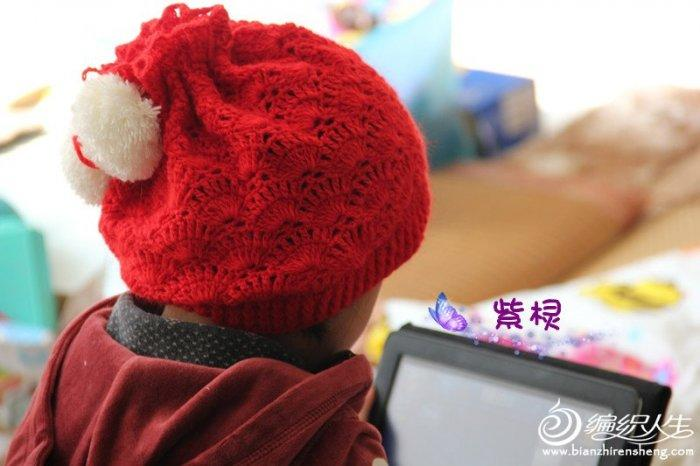 公主两用时尚帽帽 钩针编织儿童毛线帽子款式图解教程