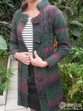 段染彩貂绒大衣 毛线编织女士毛衣外套款式教程
