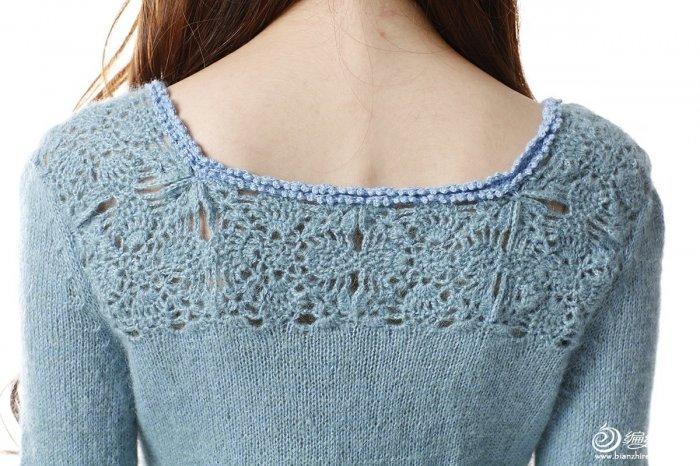 毛线编织女士长袖毛衣款式图解