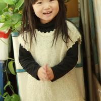 亮片马海小背心闪闪 适合3-6岁女童套头毛衣款式图解