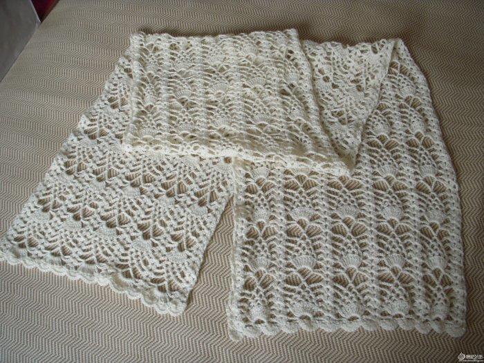 女士毛衣款式图_一个花型编织的三条围巾 钩针编织围巾款式图解-编织教程-编织人生
