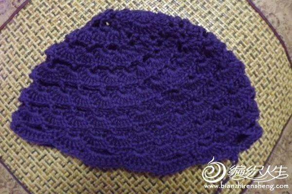 毛线编织女士有檐帽款式(有图解及多张过程图)
