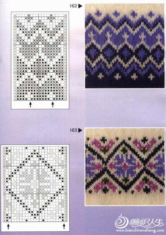 女士套头毛衣款式_美丽实用的毛衣棒针编织配色图案(附图解)-编织教程-编织人生