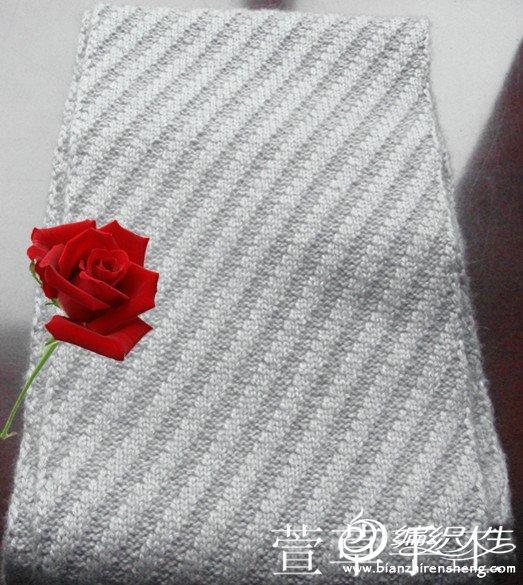 女士套头毛衣款式_经典斜纹男士围巾 毛线编织男生围巾款式图解-编织教程-编织人生