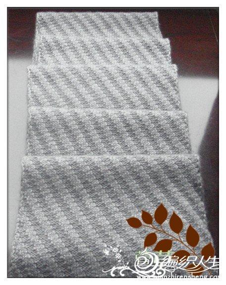 女士羊绒衫款式_经典斜纹男士围巾 毛线编织男生围巾款式图解-编织教程-编织人生