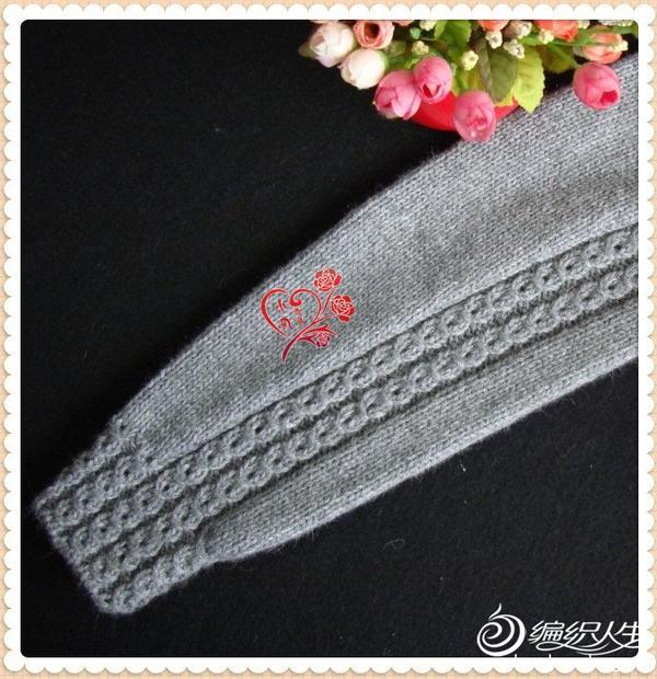 毛线编织女士毛衣外套款式教程