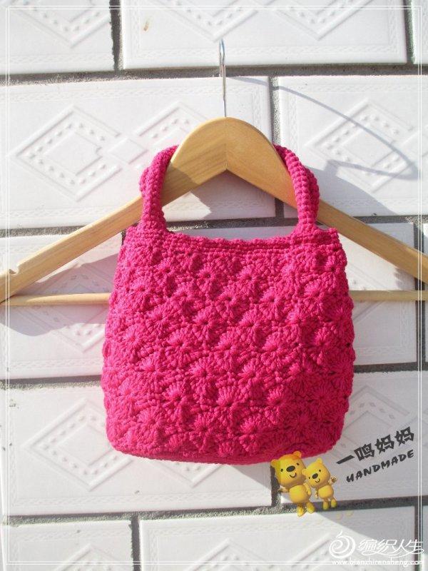 红扁带棉包包 毛线钩织包包款式图解