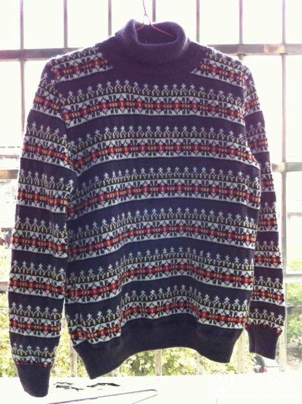 一件提花衣 手工编织适合5岁左右男孩毛衣花样