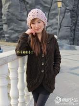 最美时尚女生毛衣外套嫣然 手工编织女士毛衣开衫外套图片教程