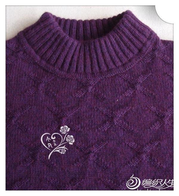 编织教程 圆领男士毛衣心链 手工编织男士毛衣花样图解  柔说,花样像
