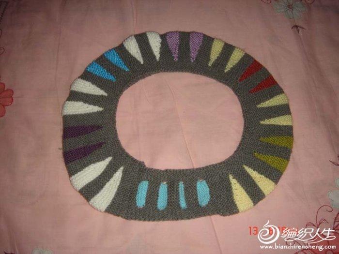 彩虹马桶套(有详细过程图) 毛线编织马桶套图片教程