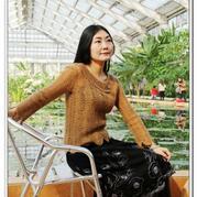 原创女士镂空毛衣钩织结合醇香优雅 织女士春夏季毛衣教程