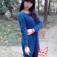 原创水墨丹青 女士貂绒裙 有编织教程和真人秀图解