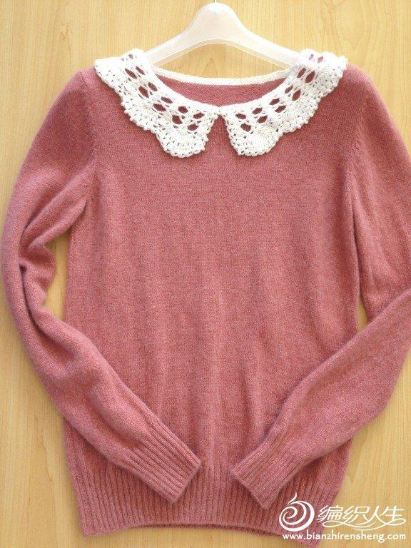 清新森女风格小翻领毛衣,春天的颜色!女儿钦点款。。