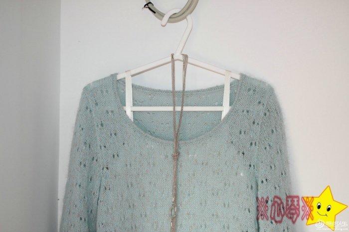 女士镂空毛衣花样图解-编织教程-编织