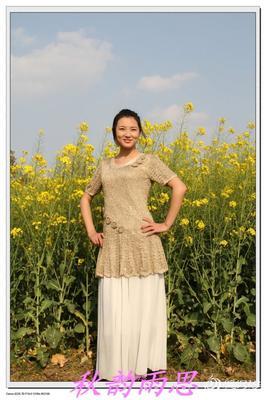 2013原创适合春节女士短袖莹润 有真人秀及花样图解