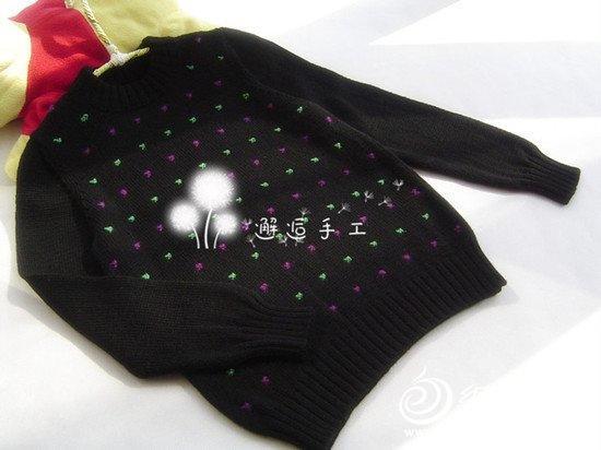 小男孩套头衫星点 邂逅手工 男孩长袖毛衣花样图解