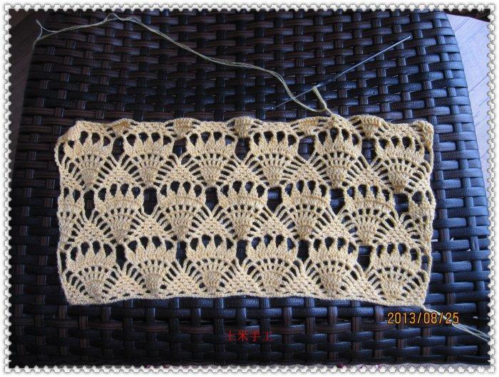 手织羊绒衫款式_土米手工作品 一款漂亮的长款女士围巾(有图解)-编织教程 ...