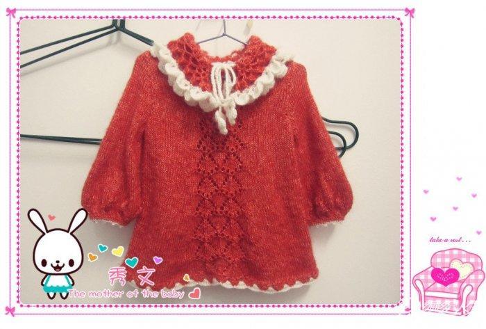 手工编织3岁左右小孩的长款毛衣梦桔 附有编织花样教程及真人秀