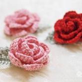 手钩玫瑰花及图解教程