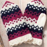 用短针编织温暖的连指手套 编织教程