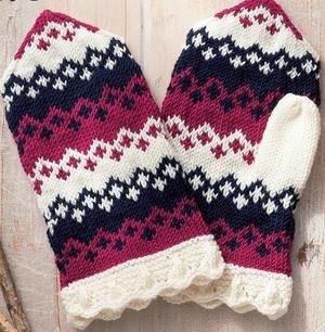 用短针编织温暖的连指手套 奔驰娱乐