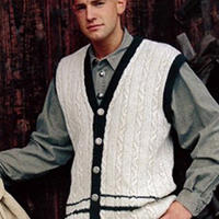 棒针编织668男装 男士毛衣编织款式图