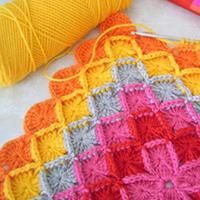 一些国外编织达人的钩针拼花配色作品