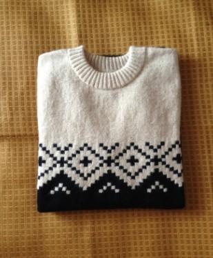 编织教程 仿淘宝男款提花毛衣(大人小孩都适合)有花样图  找了好久