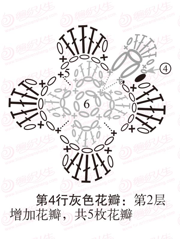 单元花旋转增加花瓣步骤图解6