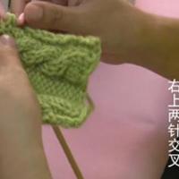 编织人生视频学堂第29集--右上2针交叉针