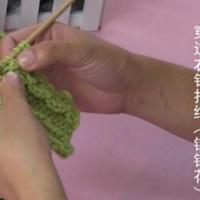 编织人生视频学堂第31集--穿过右针打结(铜钱花)
