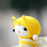 毛线玩偶BEE可爱小蜜蜂中文钩法教程