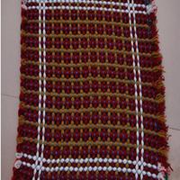 DIY手工编结毛线地毯的方法