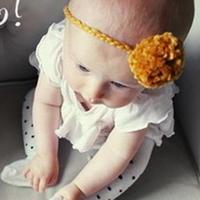 婴儿毛球编织头饰制作教程 拍摄道具