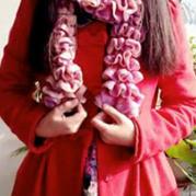 花式纱线细渔网线织围巾的视频教程