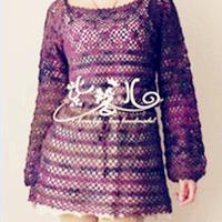 一线连拼花衣领灯笼袖美少女网衫教程
