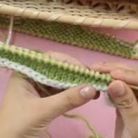 棒针基础视频:弧形的往返编织