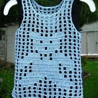 适合新手织的网格小熊背心 钩针编织儿童服饰教程