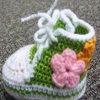 钩针宝宝鞋 编织婴儿运动鞋教程