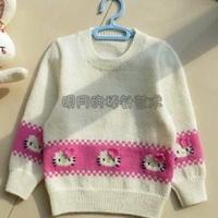 可爱KITTY猫儿童毛衣编织教程