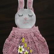 兔宝宝婴幼儿背带裙钩编教程