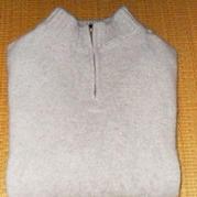 男士羊绒拉链领套头毛衣 棒针毛衣教程