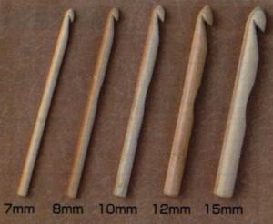 日本和麻納卡HAMANAKA竹制單頭特粗鉤針