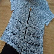 为80岁妈妈钩的短袖开衫 钩编女士毛衣教程
