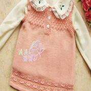 4-5岁女童背心裙 云棉作品 棒针儿童毛衣教程