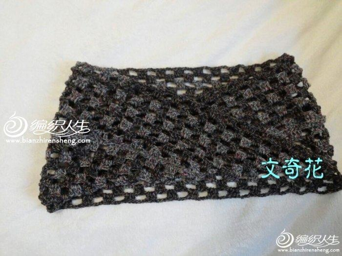 编织教程 真接钩不用缝的简单扭转围脖编织教程    织过棒针的moebius