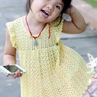 可爱小飞袖娃娃衫钩针奔驰娱乐